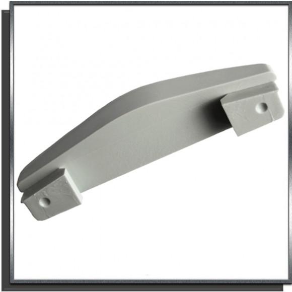 Ailette fixe 15mm Gris pour lame PVC couverture automatique Sofatec