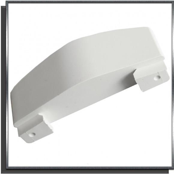 Ailette fixe 30mm Blanc pour lame PVC couverture automatique Sofatec