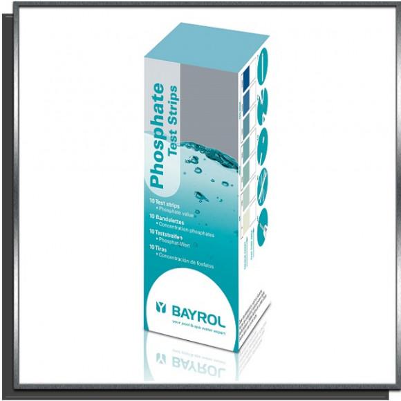 Bandelettes test phosphates X10 Bayrol