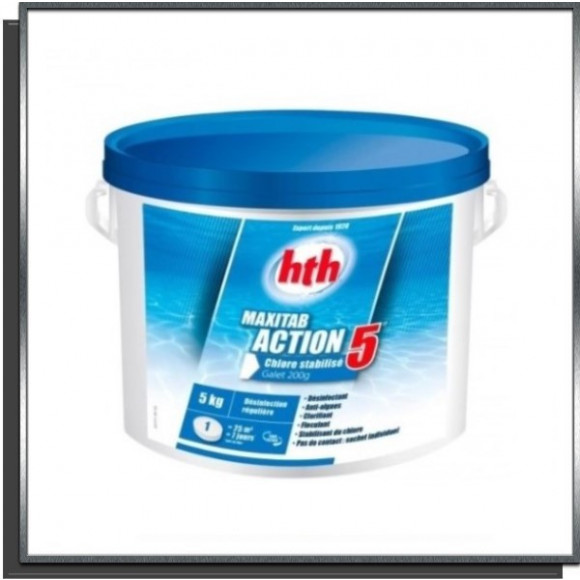 Maxitab Action 5 galets 200g 5Kg HTH