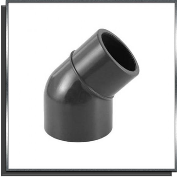 Coude réduit 45° pvc pression MF Ø63/Ø50