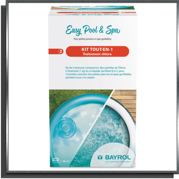 Kit tout en 1 Chlore Easy Pool&Spa Bayrol 1.5Kg