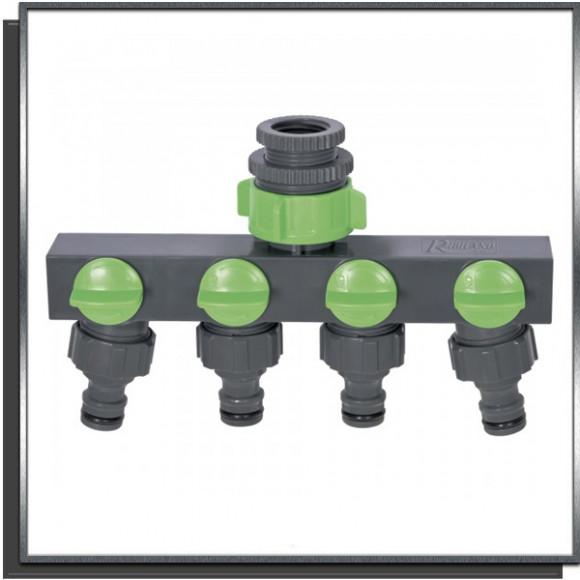 Nez de robinet 4 voies Ribimex