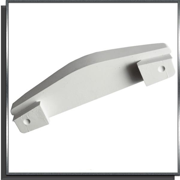 Ailette fixe 15mm Blanc pour lame PVC couverture automatique Sofatec