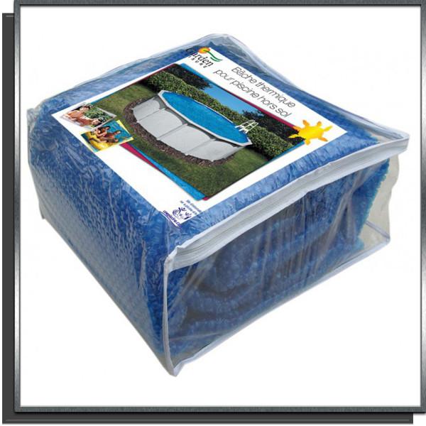 Bâche d'été bleue 180µ 3.65 x 7.31m