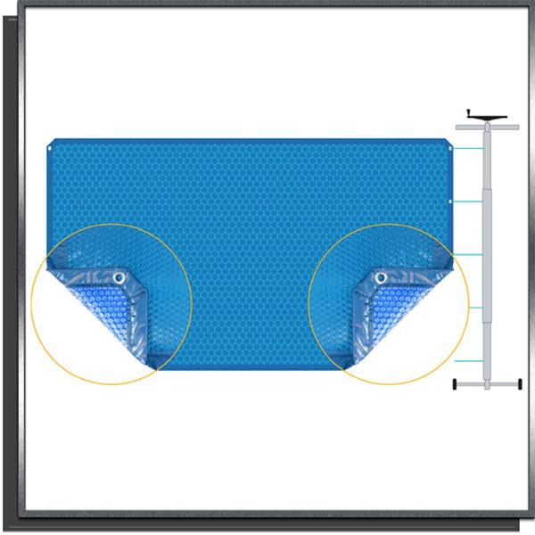 Bâche à bulles Azteck ovale 4.00x10.50m