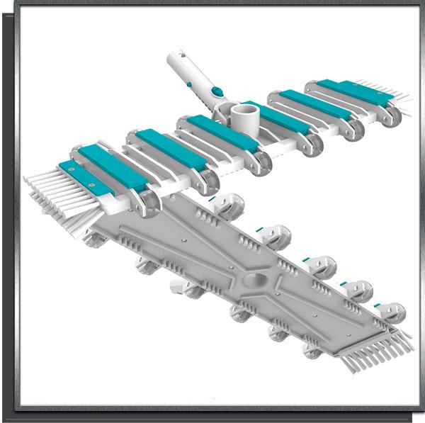 Balai rectangulaire 12 roues Bayrol