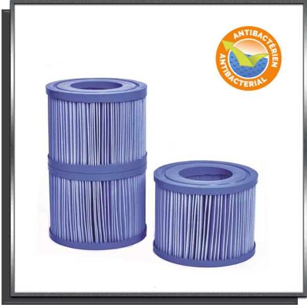 Lot de 3 cartouches de filtration anti-bactériennes pour spa NetSpa