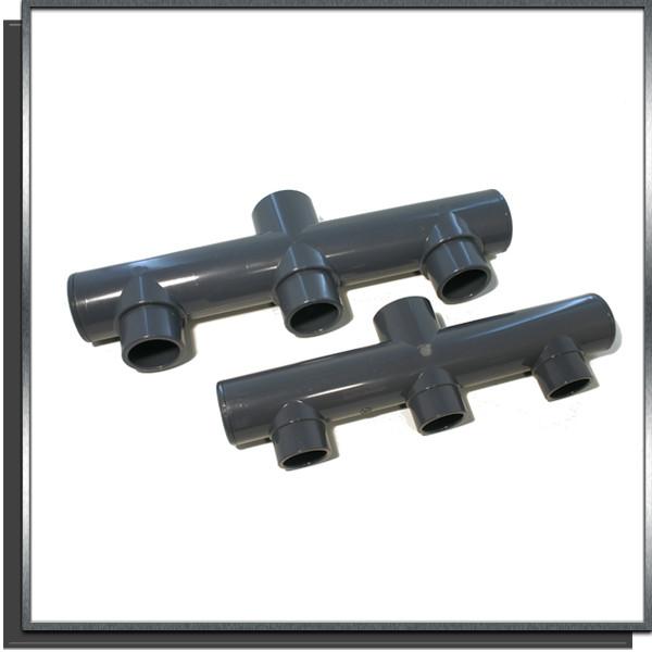 Collecteur PVC pression Ø63 3 entrées /1 sortie