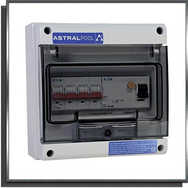 Coffret protection pompe à chaleur triphasée 10A