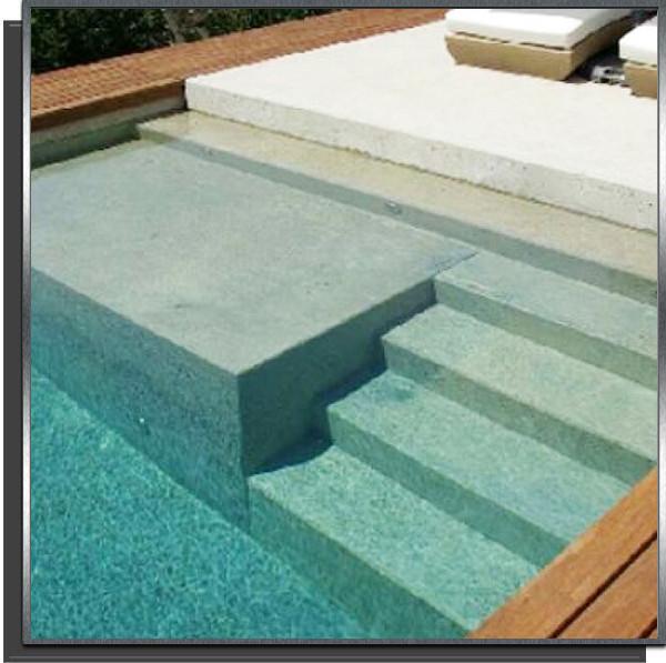 Kit piscine 10x4x1.50m avec plage + 3 marches droites