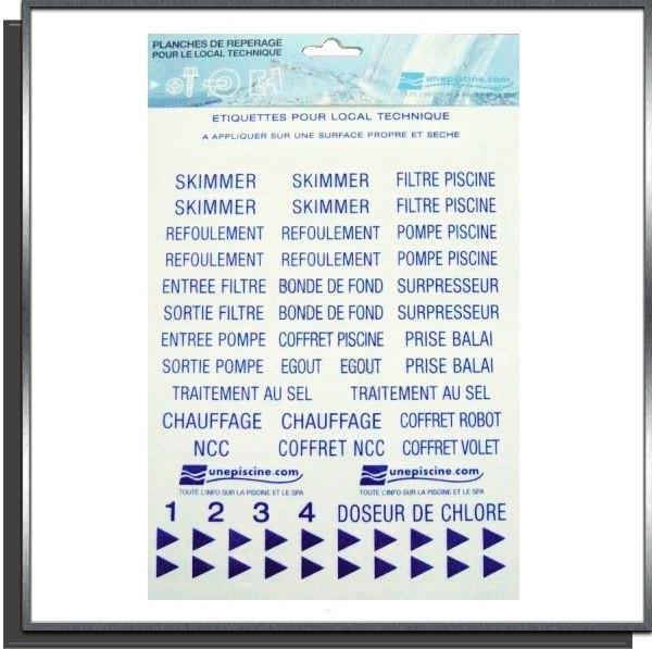 Étiquettes pour local technique de piscine