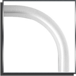 Rail Hung PVC horizontal angle R15