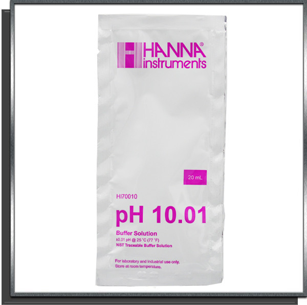 Solution tampon calibrage pH 10 sachet de 20ml