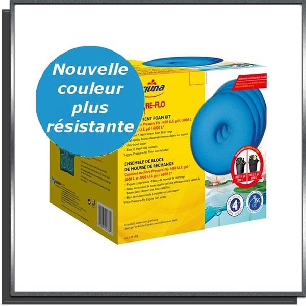Blocs de 4 mousses PT-1736 pour filtres Pressure-Flo 5000/6000