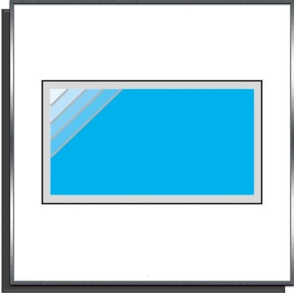 Kit piscine 6x3.5x1.50m escalier angle droit