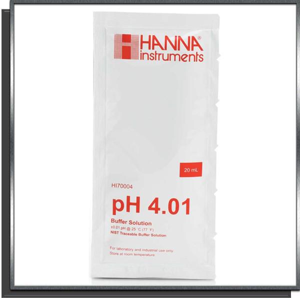 Solution tampon calibrage pH 4 sondes pH