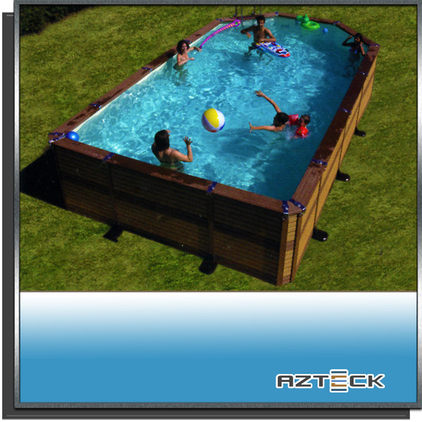 Piscine Azteck mixte 4 x 7.3 semi enterrée