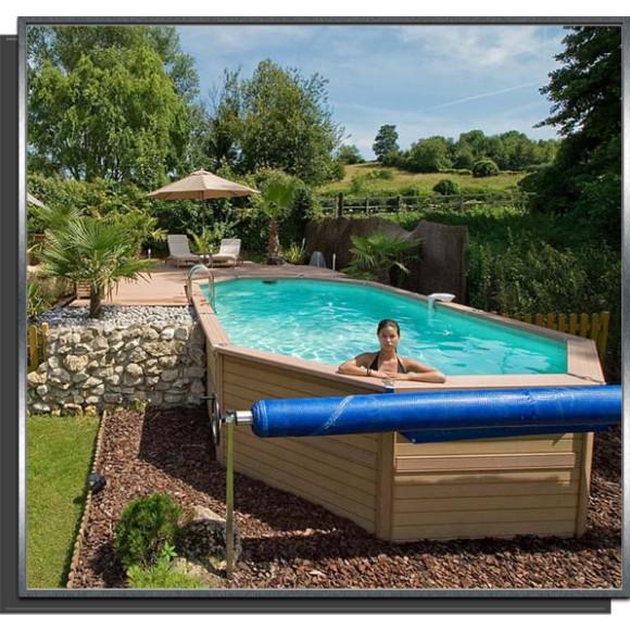 piscine zodiac azteck bois composite ovale. Black Bedroom Furniture Sets. Home Design Ideas