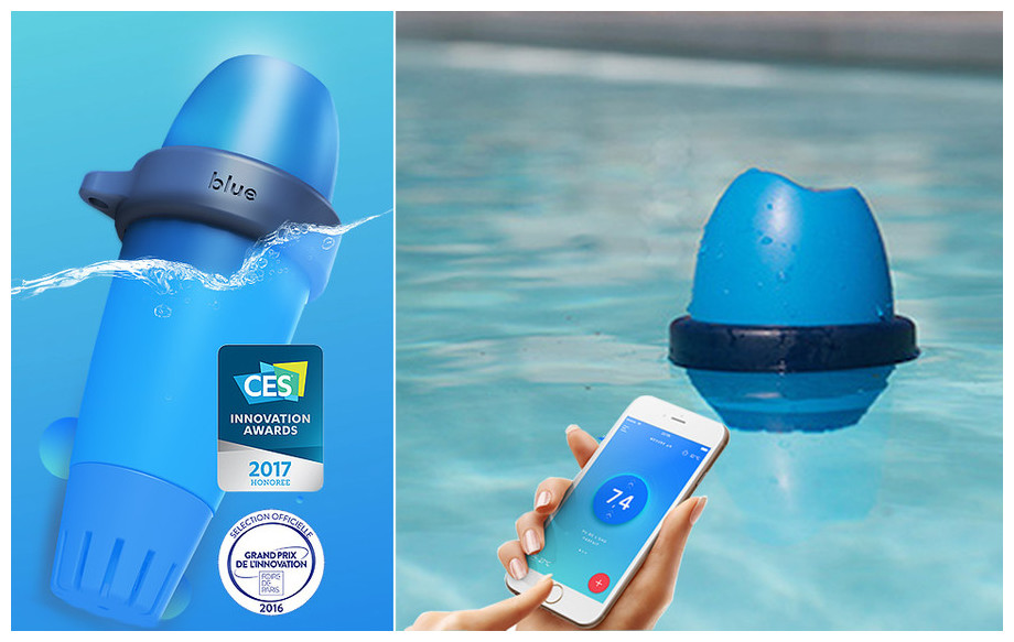 Analyseur de piscine intelligent blue by riott testeur for Testeur eau de piscine