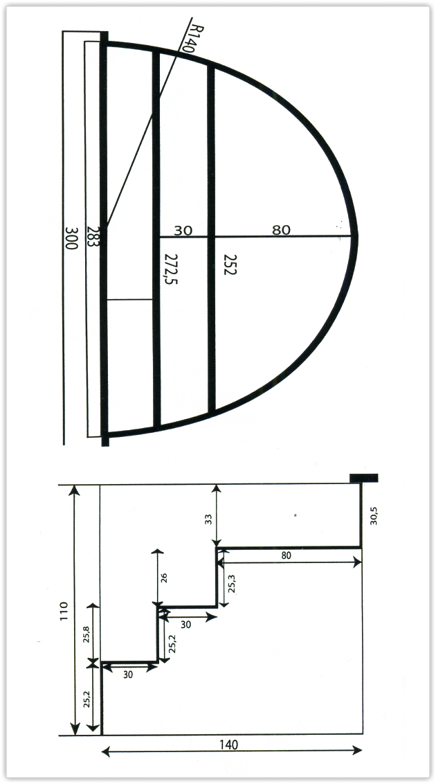 escalier roman h largeur 3m en polyester sous liner piscine cot eau. Black Bedroom Furniture Sets. Home Design Ideas